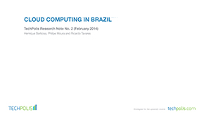 Cloud Computing in Brazil